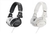 Kolorowe słuchawki Sony